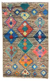 Moroccan Berber - Afghanistan Matta 86X138 Äkta Modern Handknuten Ljusbrun/Mörkgrå (Ull, Afghanistan)