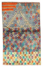 Moroccan Berber - Afghanistan Matta 85X142 Äkta Modern Handknuten Mörkgrå/Turkosblå (Ull, Afghanistan)