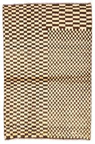 Moroccan Berber - Afghanistan Matta 91X138 Äkta Modern Handknuten Beige/Mörkbrun (Ull, Afghanistan)