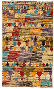 Moroccan Berber - Afghanistan Matta 82X136 Äkta Modern Handknuten Brun/Mörkbeige (Ull, Afghanistan)