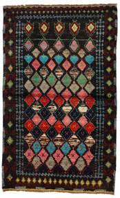 Moroccan Berber - Afghanistan Matta 88X144 Äkta Modern Handknuten Mörkbrun/Mörkgrön (Ull, Afghanistan)