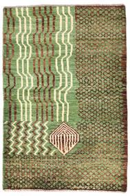 Moroccan Berber - Afghanistan Matta 79X118 Äkta Modern Handknuten Ljusgrön/Brun (Ull, Afghanistan)