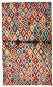 Moroccan Berber - Afghanistan Matta 85X142 Äkta Modern Handknuten Mörkbrun/Roströd (Ull, Afghanistan)