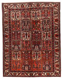 Bakhtiar Matta 162X210 Äkta Orientalisk Handknuten Mörkröd/Mörkbrun (Ull, Persien/Iran)