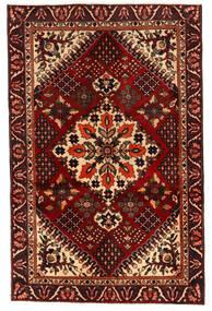 Bakhtiar Matta 125X195 Äkta Orientalisk Handknuten Mörkbrun/Mörkröd (Ull, Persien/Iran)