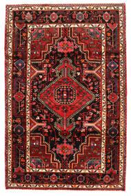 Hamadan Matta 123X190 Äkta Orientalisk Handknuten Mörkbrun/Mörkröd (Ull, Persien/Iran)