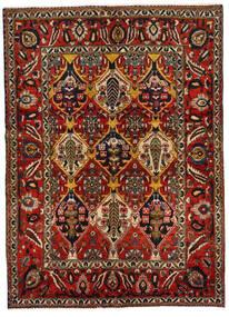 Bakhtiar Matta 152X211 Äkta Orientalisk Handknuten Mörkbrun/Mörkröd (Ull, Persien/Iran)