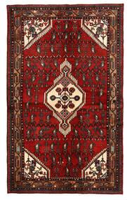 Hamadan Matta 135X221 Äkta Orientalisk Handknuten Mörkröd/Mörkbrun (Ull, Persien/Iran)