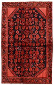 Hosseinabad Matta 138X225 Äkta Orientalisk Handknuten Mörkröd/Roströd (Ull, Persien/Iran)