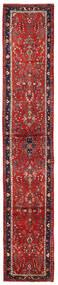 Lillian Matta 74X415 Äkta Orientalisk Handknuten Hallmatta Mörkröd/Mörkbrun (Ull, Persien/Iran)