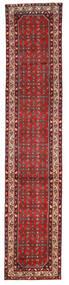 Hosseinabad Matta 78X388 Äkta Orientalisk Handknuten Hallmatta Mörkröd/Mörkbrun (Ull, Persien/Iran)