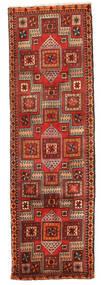 Yalameh Matta 82X261 Äkta Orientalisk Handknuten Hallmatta Mörkröd/Roströd (Ull, Persien/Iran)