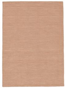 Kelim Loom - Dusty Rose Matta 160X230 Äkta Modern Handvävd Röd/Ljusrosa (Ull, Indien)