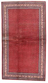 Sarough Matta 126X220 Äkta Orientalisk Handknuten Röd/Mörkröd (Ull, Persien/Iran)