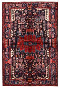 Nahavand Matta 162X244 Äkta Orientalisk Handknuten Mörklila/Mörkröd (Ull, Persien/Iran)
