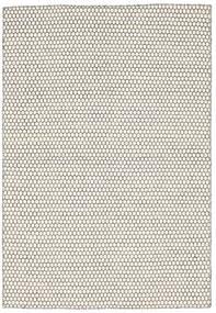 Kelim Honey Comb - Cream/Svart Matta 160X230 Äkta Modern Handvävd Beige/Ljusgrå (Ull, Indien)