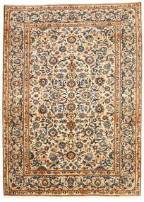 Najafabad Matta 203X278 Äkta Orientalisk Handknuten Beige/Svart (Ull, Persien/Iran)