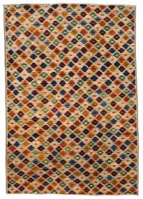 Moroccan Berber - Afghanistan Matta 200X289 Äkta Modern Handknuten Brun/Mörkbrun (Ull, Afghanistan)