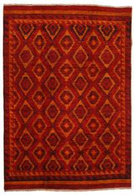 Moroccan Berber - Afghanistan Matta 200X285 Äkta Modern Handknuten Mörkröd/Roströd (Ull, Afghanistan)