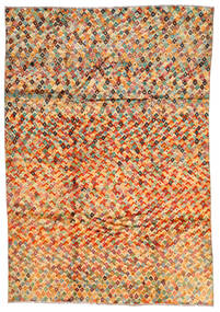 Moroccan Berber - Afghanistan Matta 203X292 Äkta Modern Handknuten Orange/Ljusgrön (Ull, Afghanistan)