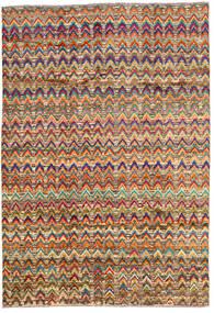 Moroccan Berber - Afghanistan Matta 196X283 Äkta Modern Handknuten Mörkbrun/Mörkröd (Ull, Afghanistan)
