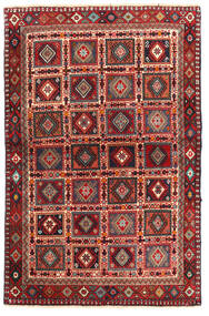 Yalameh Matta 99X153 Äkta Orientalisk Handknuten Mörkröd/Mörkbrun (Ull, Persien/Iran)