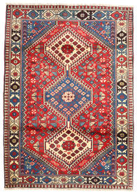 Yalameh Matta 101X153 Äkta Orientalisk Handknuten Mörkröd/Mörkgrå (Ull, Persien/Iran)