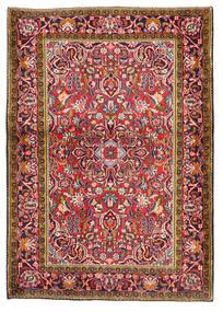 Keshan Matta 103X147 Äkta Orientalisk Handknuten Mörkröd/Mörklila (Ull, Persien/Iran)