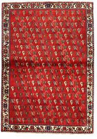 Shiraz Matta 110X157 Äkta Orientalisk Handknuten Mörkröd/Roströd (Ull, Persien/Iran)