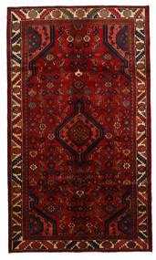 Asadabad Matta 152X262 Äkta Orientalisk Handknuten Mörkröd/Röd (Ull, Persien/Iran)