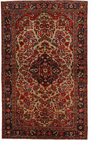 Lillian Matta 148X240 Äkta Orientalisk Handknuten Mörkbrun/Mörkröd (Ull, Persien/Iran)