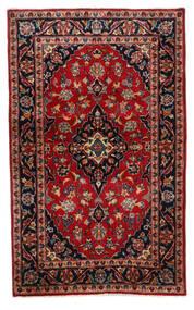 Keshan Matta 94X155 Äkta Orientalisk Handknuten Mörkbrun/Mörkröd (Ull, Persien/Iran)