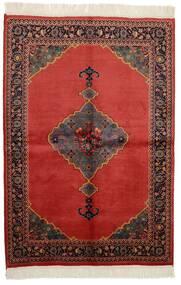 Kazak Matta 136X200 Äkta Orientalisk Handknuten Mörkbrun/Mörkröd/Roströd (Ull, Pakistan)
