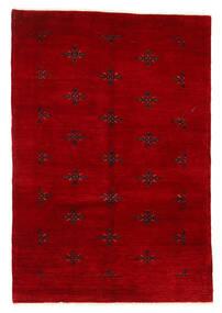 Huttan Matta 125X183 Äkta Orientalisk Handknuten Mörkröd (Ull, Pakistan)