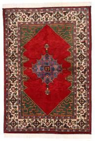 Kazak Matta 137X198 Äkta Orientalisk Handknuten Mörkgrå/Roströd (Ull, Pakistan)
