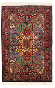 Kazak Matta 135X201 Äkta Orientalisk Handknuten Mörkröd/Mörkgrå (Ull, Pakistan)
