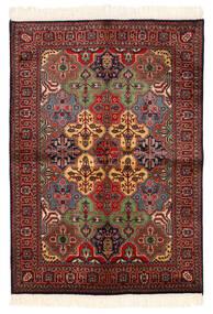 Kazak Matta 135X192 Äkta Orientalisk Handknuten Mörkröd/Svart (Ull, Pakistan)