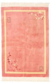 Kina Antikfinish Matta 137X198 Äkta Orientalisk Handknuten Ljusrosa/Mörkbeige (Ull, Kina)