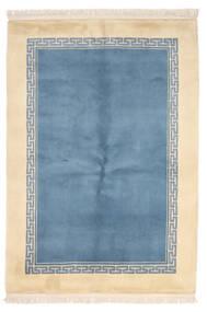 Kina 90 Line Matta 137X198 Äkta Orientalisk Handknuten Ljusblå/Beige (Ull, Kina)