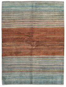 Gabbeh Persisk Matta 148X198 Äkta Modern Handknuten Mörkröd/Ljusgrå (Ull, Persien/Iran)