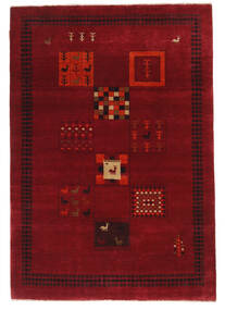 Gabbeh Loribaft Matta 148X215 Äkta Modern Handknuten Mörkröd/Röd (Ull, Indien)