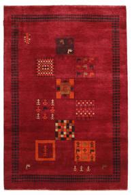 Gabbeh Loribaft Matta 145X215 Äkta Modern Handknuten Röd/Mörkröd (Ull, Indien)