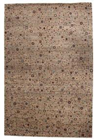 Gabbeh Loribaft Matta 199X301 Äkta Modern Handknuten Brun/Ljusgrå (Ull, Indien)