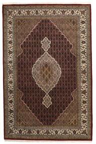 Tabriz Royal Matta 198X304 Äkta Orientalisk Handknuten Mörkröd/Brun ( Indien)