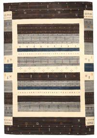 Loribaf Loom Matta 206X306 Äkta Modern Handknuten Mörkbrun/Beige/Ljusgrå (Ull, Indien)