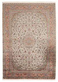 Kashmir Äkta Silke Matta 216X313 Äkta Orientalisk Handknuten Mörkbrun/Beige (Silke, Indien)