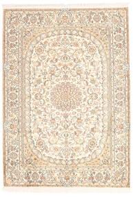 Kashmir Äkta Silke Matta 128X181 Äkta Orientalisk Handknuten Beige (Silke, Indien)