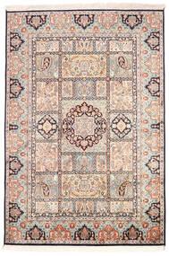 Kashmir Äkta Silke Matta 126X185 Äkta Orientalisk Handknuten Beige/Ljusgrå (Silke, Indien)
