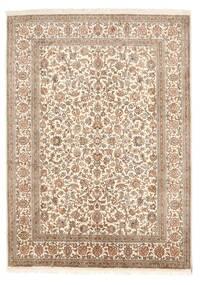 Kashmir Äkta Silke Matta 158X219 Äkta Orientalisk Handknuten Brun/Ljusbrun (Silke, Indien)