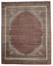 Mir Indisk Matta 307X386 Äkta Orientalisk Handknuten Mörkbrun/Mörkröd Stor (Ull, Indien)